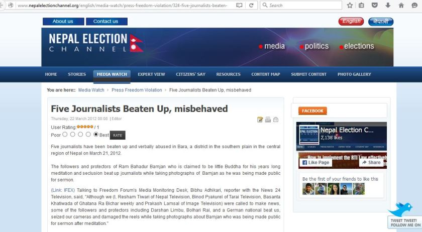 nepalelectionchannel five journos beaten 1