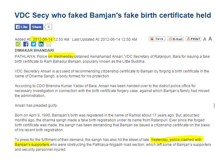 fake birth certificates